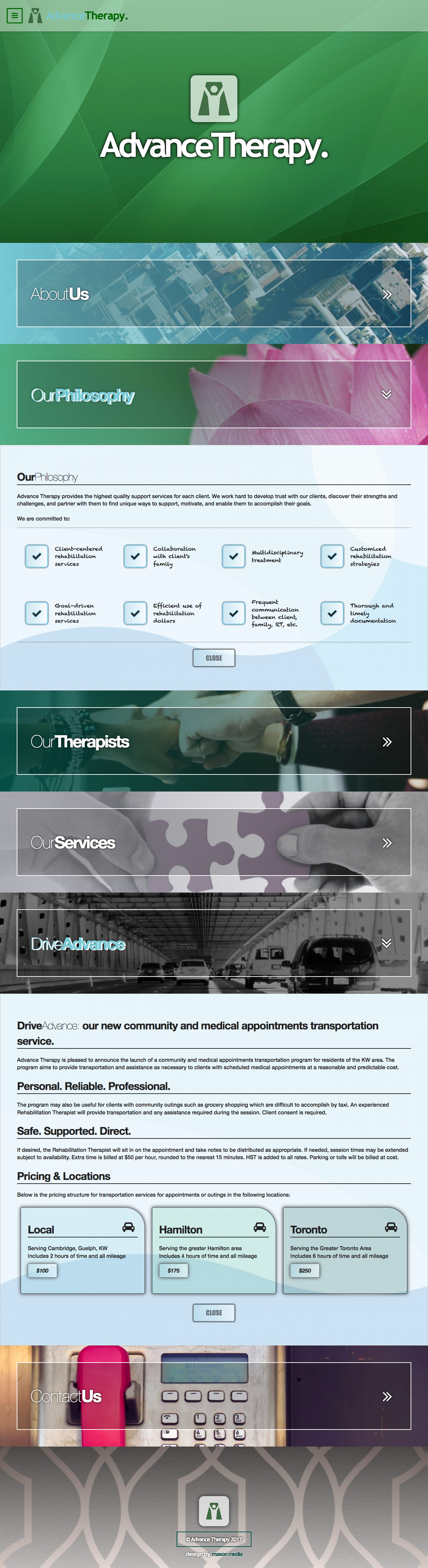 Advance Therapy full website